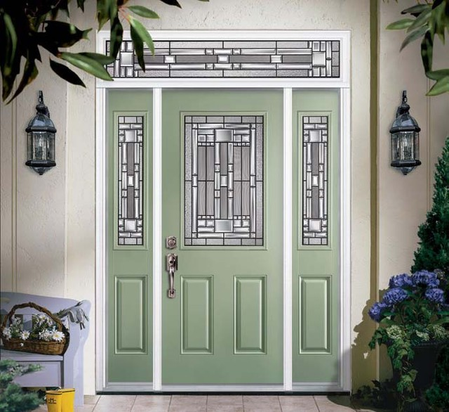 fiberglass steel doors traditional exterior