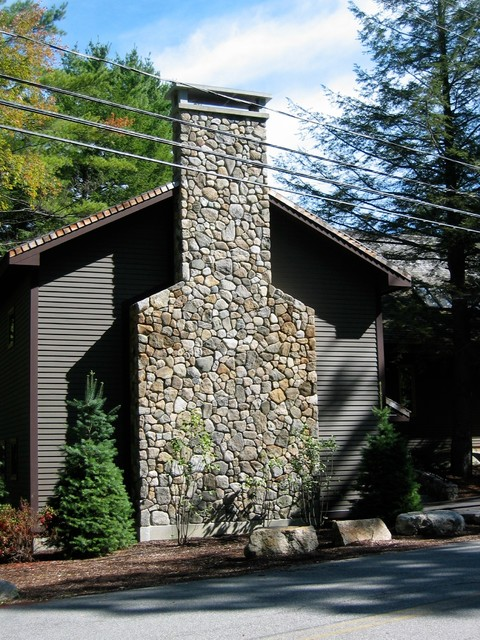 Field Stone Chimney traditional-exterior