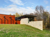 contemporary exterior Houzz Tour: Fieldstone Divides and Connects a Wisconsin Home (18 photos)