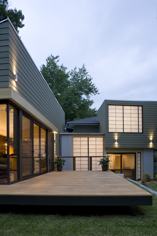 Inspiration for a transitional two-story exterior home remodel in DC Metro