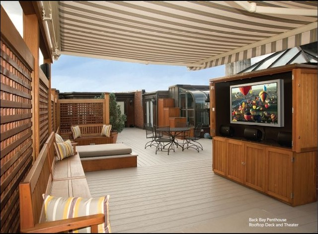 Finest Roof Deck in Town traditional-exterior
