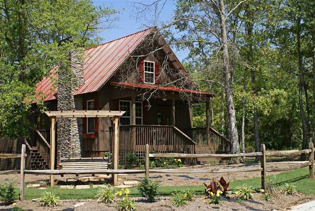 Fish camp cabin plan traditional exterior atlanta by max fulbright designs Cabin house plans