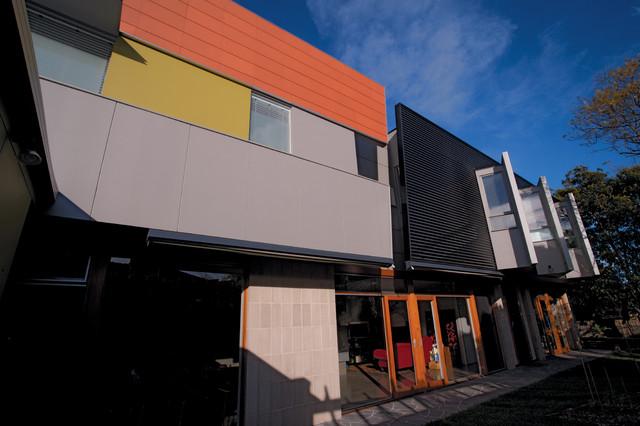 Fitton house side exterior modern exterior melbourne for Modern exterior building materials