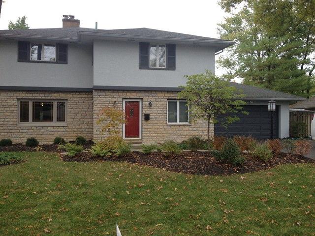 Five Star Painting Two Story Stucco In Upper Arlington Traditional Exterior Columbus By
