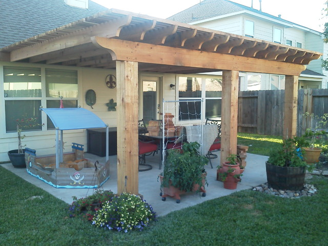 Fleur pergola traditional exterior houston by for Pergola images houzz