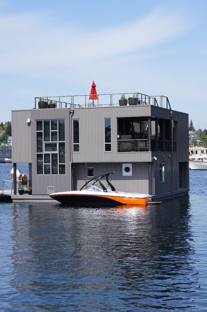 Floating Home 11 Lake Union Modern Exterior