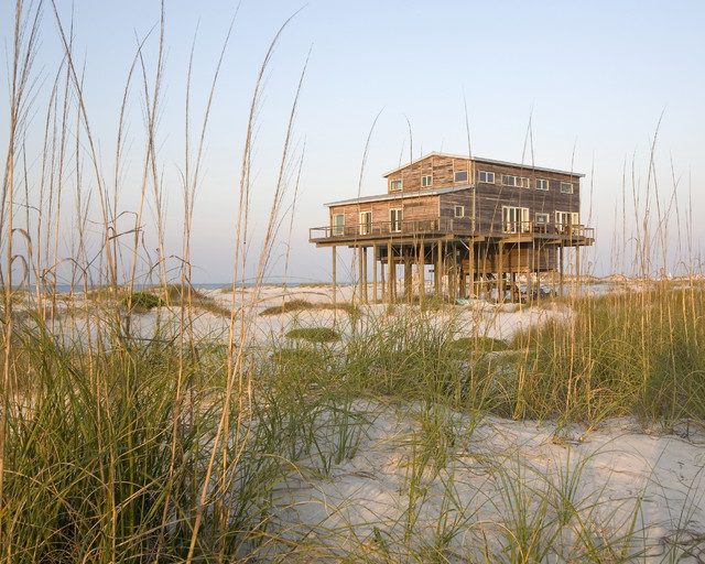 Florida Island House rustic-exterior
