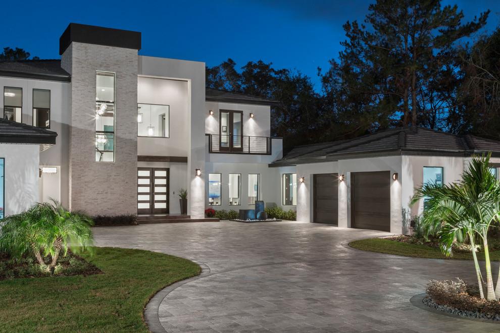 Florida Modern Home Contemporary Exterior Orlando By Jorge Ulibarri Custom Homes