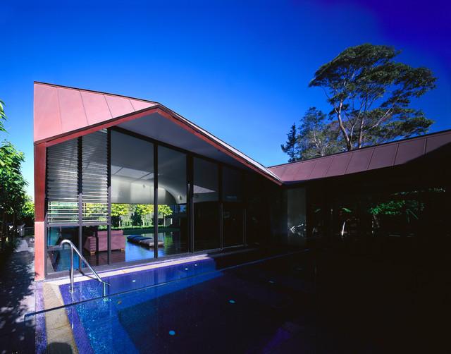 Folded House contemporary-exterior