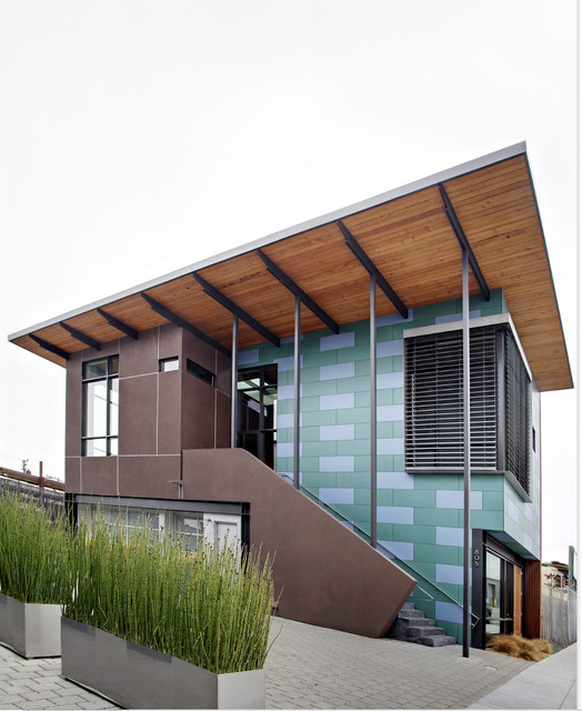 Folger office modern exterior san francisco by wa for Modern office building exterior design