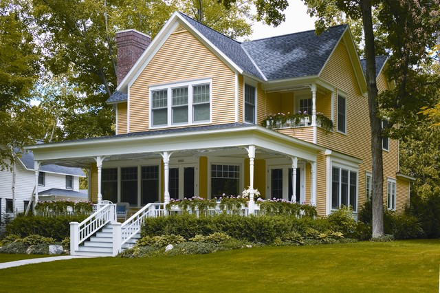 Folk Victorian Built With Vinyl Siding Traditional