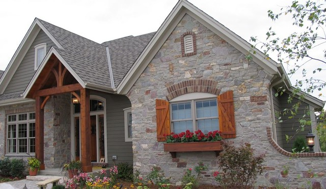 Fond Du Lac Stone Veneer Arts Crafts Exterior Detroit By Capital Stoneworks Supply And