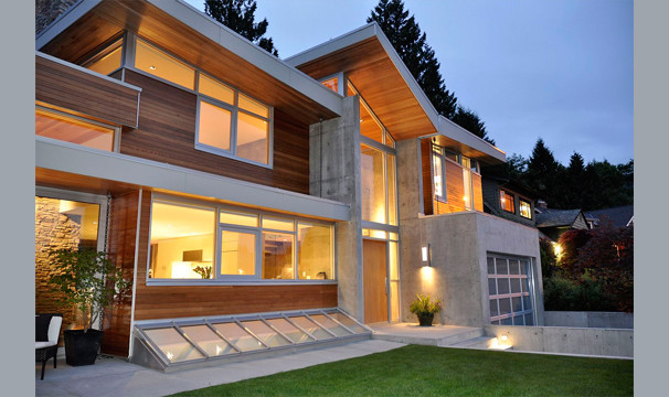 Trendy exterior home photo in Seattle