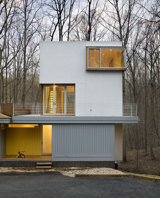 Forest House Contemporary Exterior Dc Metro By