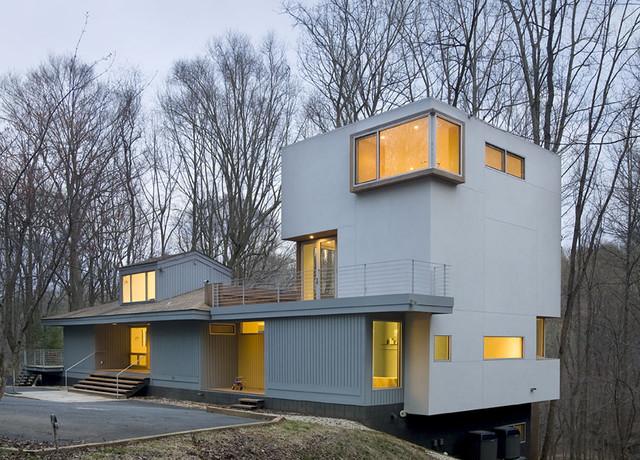 Forest House contemporary-exterior
