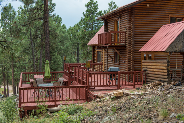 Forest lakes mountain cabins rustic exterior for Rustic home albuquerque