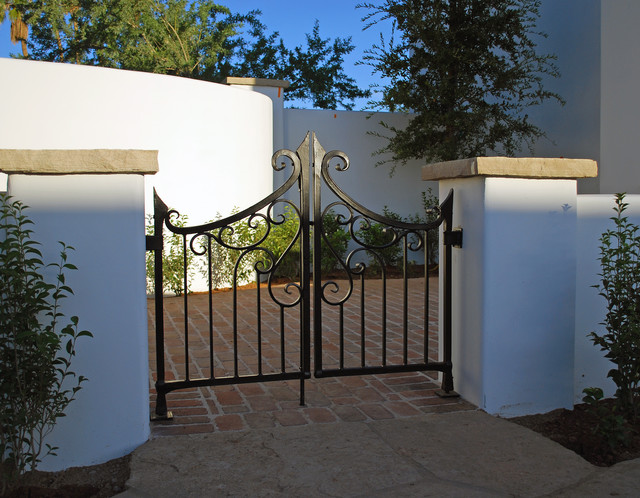 Forged Courtyard Gate traditional exterior