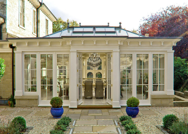 Formal orangery victorian exterior other by town for Conservatory doors exterior