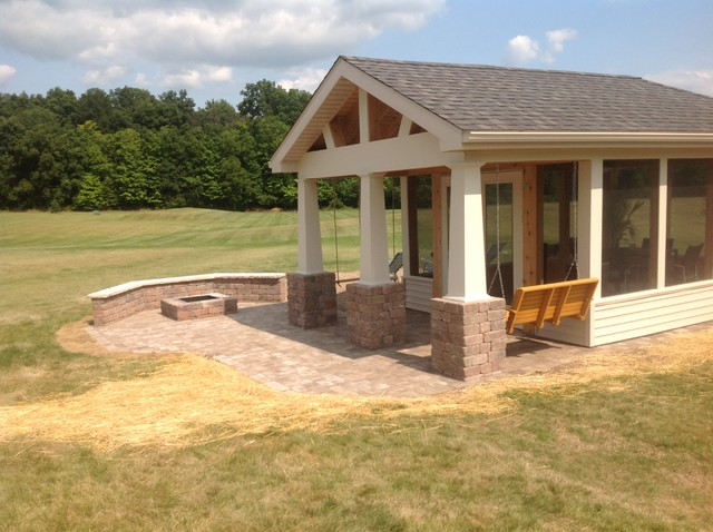 Fort Wayne Detached Porch And Belgard Paver Patio