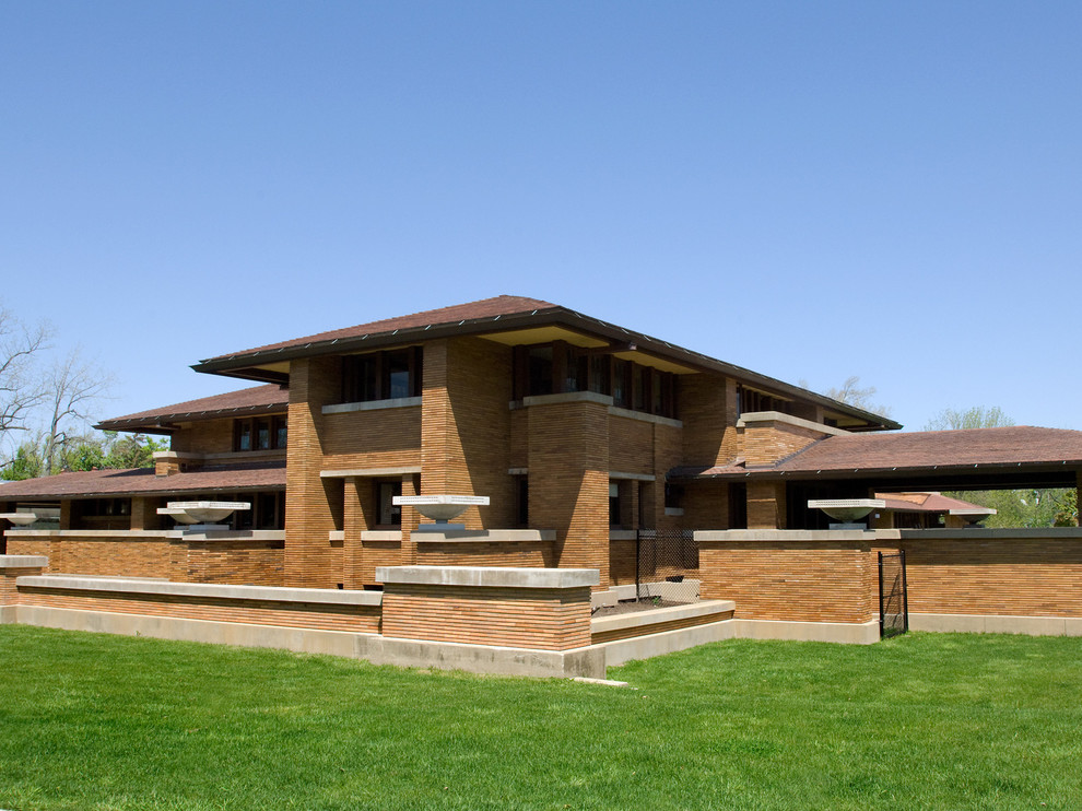 Frank Lloyd Wright's - The Darwin Martin Complex ... on single slope roof plans, gambrel roof house plans, metal roof house plans, peaked roof house plans, curved roof house plans, one-sided roof house plans, small roof house plans, slope house plans, single roof line house plans, windows house plans, slant roof house plans, shed roof house plans, high pitch roof house plans, tumbleweed tiny house floor plans, butterfly roof house plans, one story craftsman bungalow house plans, tile roof house plans, skillion roof house plans, slanted roof house plans, mansard roof house plans,
