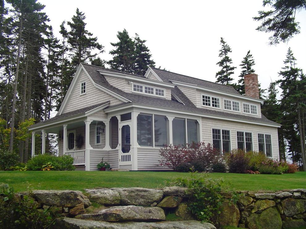 Coastal wood exterior home idea in Portland Maine