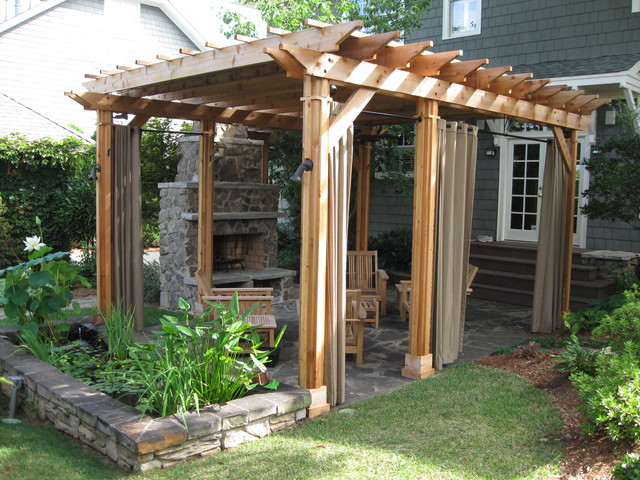 Free standing pergola and entertainment space. traditional-exterior - Free Standing Pergola And Entertainment Space. - Traditional