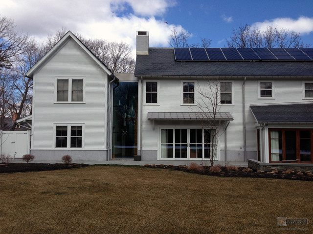 Freedom Gray Roof And Gutters Modern Exterior Boston