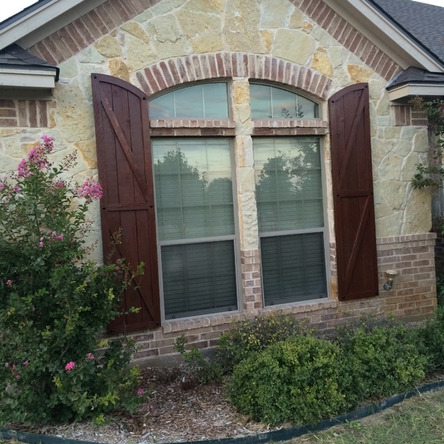 Freeman Shutters Rustic Exterior Dallas By Hrp