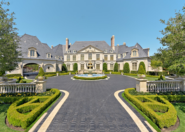 Private residence french formal luxury traditional for Luxury landscape design