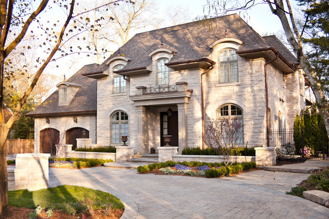 French chateau traditional exterior toronto by for French chateau home designs