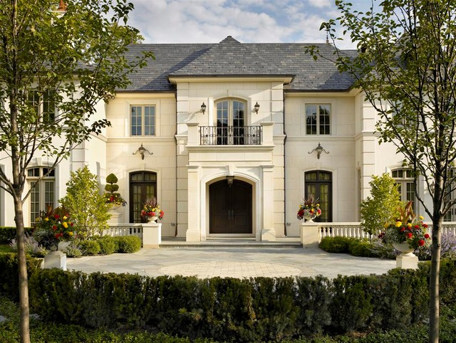 French Chateau Traditional Exterior Chicago By Michael Hershenson Architects