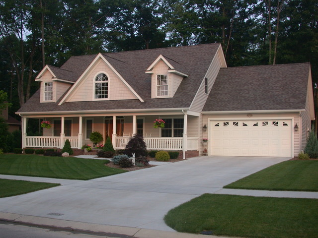 French Colonial Built With Vinyl Siding Traditional