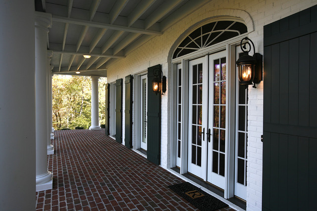 French colonial residence - Traditional french doors exterior ...
