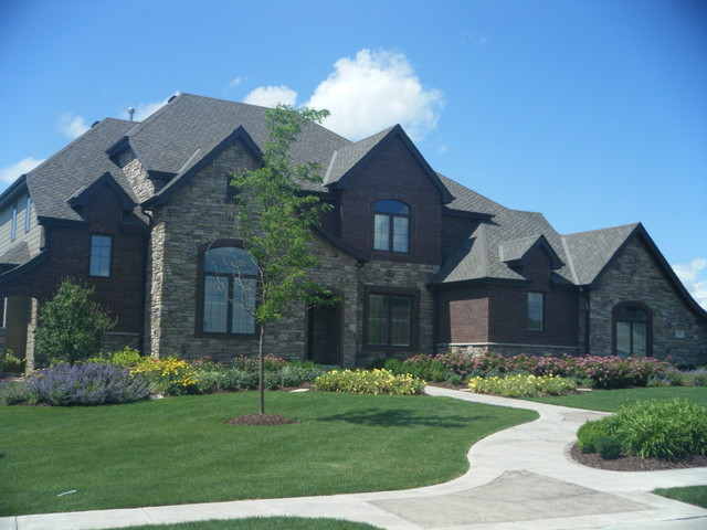 French Country Traditional Exterior Omaha By