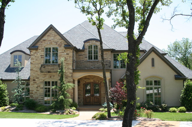 French country for Exterior stone design houses