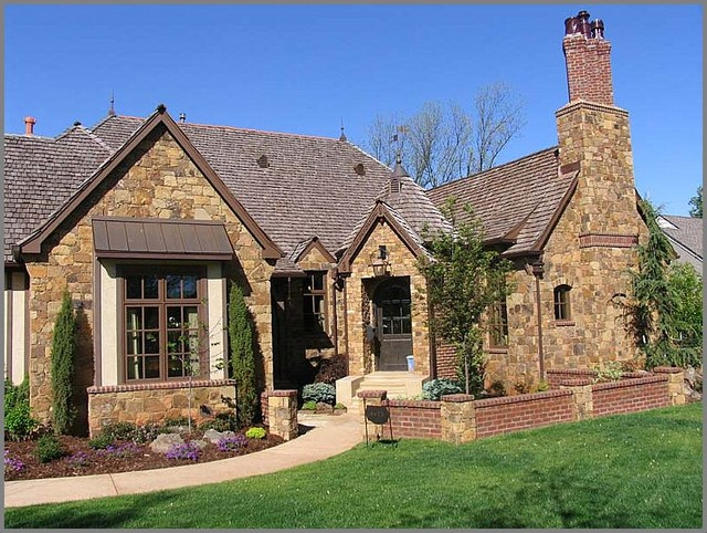 French country cottage traditional exterior oklahoma for French country cottage design
