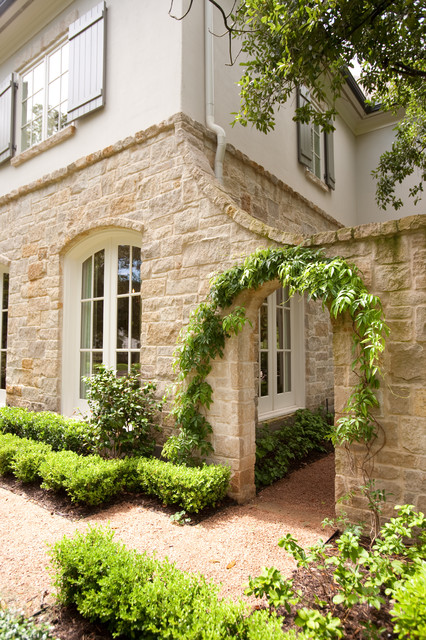 French country traditional exterior houston by for French country courtyard