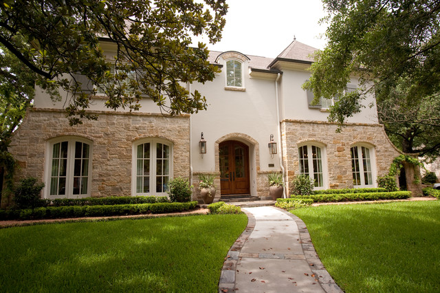 French Country Traditional Exterior Houston by Creative