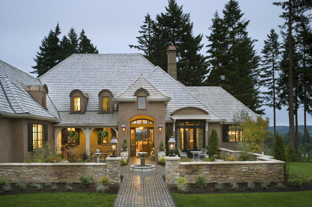 French country elegance traditional exterior for French country house plans with front porch