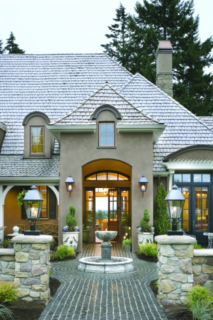 French country elegance traditional exterior for French country courtyard