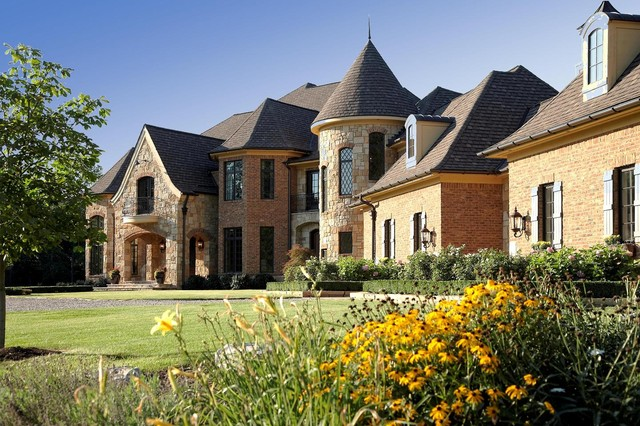 French Country Estate Traditional Exterior Detroit