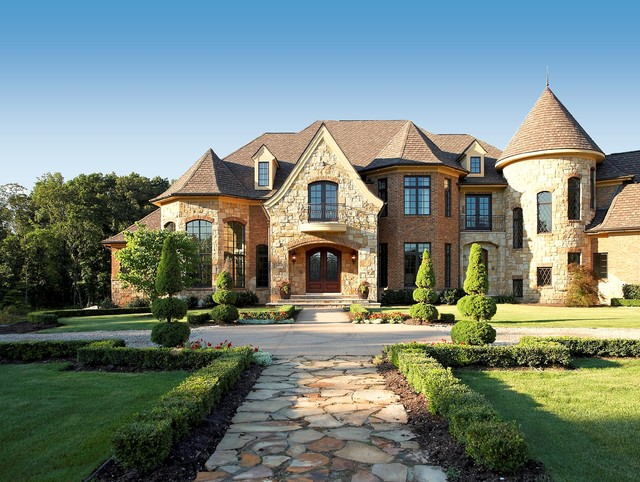 French country estate cl sico fachada detroit de for European style homes for sale