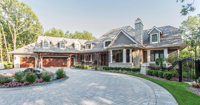 french country european style home traditional exterior detroit