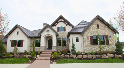 exterior stone, tile & paint color? Love!