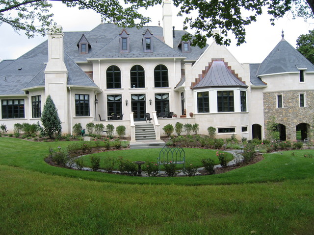 French Country Garden traditional exterior