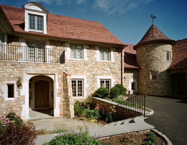 french country home mediterranean exterior