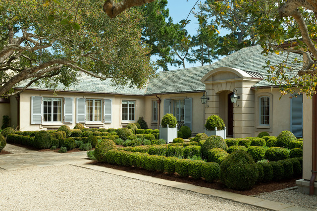 French country home pebble beach california for Traditional country homes