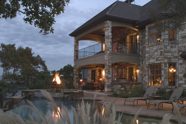 French Country Manor Contemporary Exterior Austin