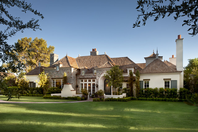 French Country Traditional Exterior Phoenix By Matthew Thomas Archite