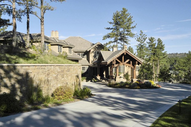 French Country Mountain House traditional-exterior